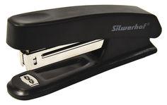 Степлер Silwerhof 401072-01 N10 (12листов) черный пластик коробка