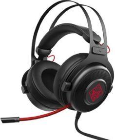 Наушники с микрофоном HP OMEN 800, накладные, черный / красный [1kf76aa]