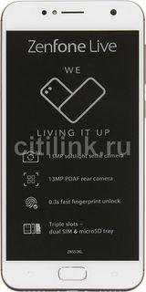 Смартфон ASUS Zenfone Live 16Gb, ZB553KL, золотистый