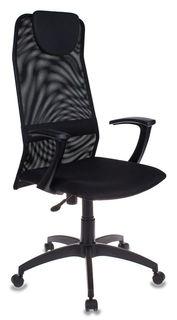 Кресло руководителя БЮРОКРАТ KB-8, на колесиках, сетка, черный [kb-8/black]