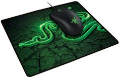 Коврик для мыши RAZER Goliathus Control Fissure зеленый/рисунок [rz02-01070500-r3m2]