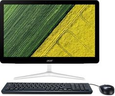 Моноблок ACER Aspire Z24-880, Intel Core i7 7700T, 16Гб, 2Тб, NVIDIA GeForce 940MX - 2048 Мб, DVD-RW, Windows 10, серебристый [dq.b8ter.014]