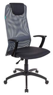 Кресло руководителя БЮРОКРАТ KB-8, на колесиках, сетка, серый [kb-8/dg/tw-12]
