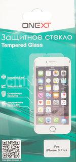 Защитное стекло для экрана ONEXT для Apple iPhone 8 Plus, 1 шт, прозрачный [41377]