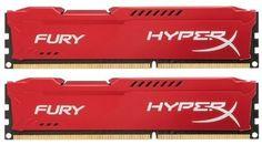 Модуль памяти KINGSTON HyperX FURY Red Series HX421C14FR2K2/16 DDR4 - 2x 8Гб 2133, DIMM, Ret