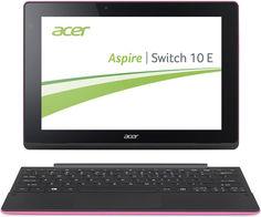 "Планшет-трансформер ACER SW3-016-140S, 10.1"", Intel Atom X5 Z8300 1.44ГГц, 2Гб, 500Гб, 32Гб SSD, Intel HD Graphics , Windows 10, NT.G8ZER.001, розовый"