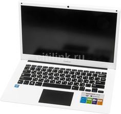 "Ноутбук PRESTIGIO SmartBook 141C, 14.1"", Intel Atom X5 Z8350 1.44ГГц, 2Гб, 32Гб SSD, Intel HD Graphics 400, Windows 10 Home, PSB141C01BFH_WH_CIS, белый"