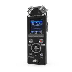 Диктофон RITMIX RR-989 4 Gb, черный [15119318]