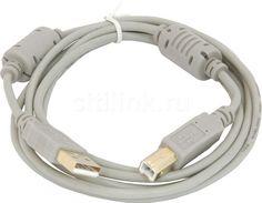 Кабель USB2.0 USB A(m) - USB B(m), ферритовый фильтр , 1.8м, серый Noname