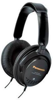 Наушники PANASONIC RP-HTF295E-K, мониторы, черный, проводные