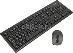 Комплект (клавиатура+мышь) A4 7100N, USB, беспроводной, черный