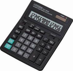 Калькулятор CITIZEN SDC-664S, 16-разрядный, черный