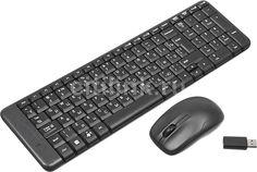 Комплект (клавиатура+мышь) LOGITECH MK220, USB, беспроводной, черный [920-003169]