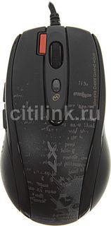 Мышь A4 V-Track F5 лазерная проводная USB, черный и рисунок