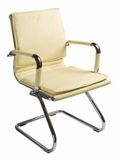 Кресло БЮРОКРАТ Ch-993-Low-V, на полозьях, искусственная кожа, слоновая кость [ch-993-low-v/ivory]