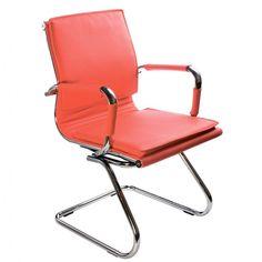 Кресло БЮРОКРАТ Ch-993-Low-V, на полозьях, искусственная кожа, красный [ch-993-low-v/red]