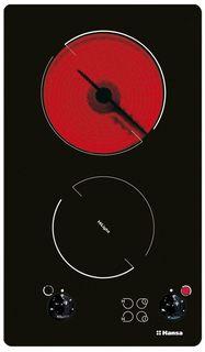 Варочная панель HANSA BHCS38120030, Hi-Light, независимая, черный