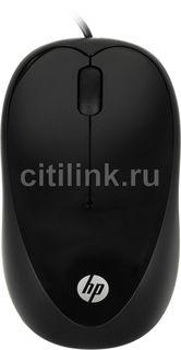Мышь HP X1000 оптическая проводная USB, черный [h2c21aa]