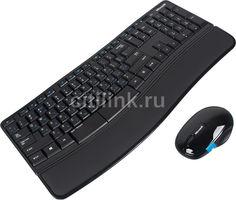 Комплект (клавиатура+мышь) MICROSOFT L3V-00017, USB, беспроводной, черный