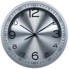 Настенные часы БЮРОКРАТ WallC-R05P, аналоговые, серебристый