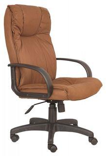 Кресло руководителя БЮРОКРАТ CH-838AXSN, на колесиках, искусственный нубук, коричневый [ch-838axsn/f5]