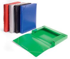 Папка-короб на резинке Бюрократ -BA40/07GREY пластик 0.7мм корешок 40мм A4 серый