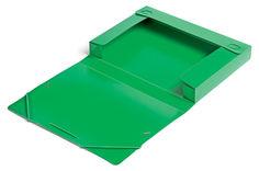 Папка-короб на резинке Бюрократ -BA40/07GRN пластик 0.7мм корешок 40мм A4 зеленый