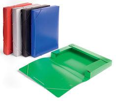 Папка-короб на резинке Бюрократ -BA40/07RED пластик 0.7мм корешок 40мм A4 красный
