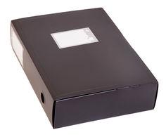 Короб архивный вырубная застежка Бюрократ -BA80/08BLCK пластик 0.8мм корешок 80мм 330х245мм черный