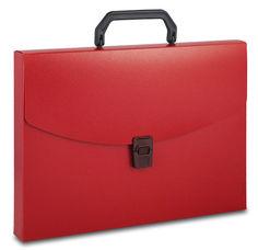 Портфель Бюрократ -BPP01RED 1 отдел. A4 пластик 0.7мм красный
