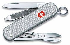 Складной нож VICTORINOX Classic Alox, 5 функций, 58мм, серебристый [0.6221.26-012]