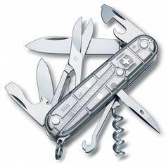 Складной нож VICTORINOX Climber, 14 функций, 91мм, серебристый полупрозрачный [1.3703.t7]