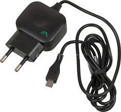 Сетевое зарядное устройство VERTEX Slim Line, 2.1A, черный