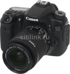 Зеркальный фотоаппарат CANON EOS 70D KIT kit ( EF-S 18-55mm f/3.5-5.6 IS STM), черный