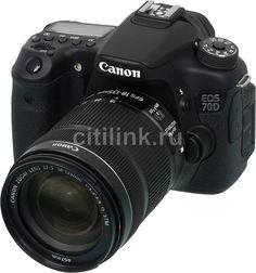 Зеркальный фотоаппарат CANON EOS 70D KIT kit ( EF-S 18-135mm f/3.5-5.6 IS STM), черный