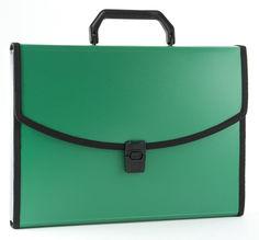 Портфель Бюрократ -BPP6LGRN 6 отдел. A4 с окантовкой пластик 0.7мм зеленый