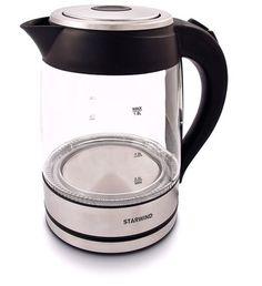 Чайник электрический STARWIND SKG4710, 2200Вт, серебристый и черный
