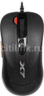 Мышь A4 X-705K оптическая проводная USB, черный [x-705k usb]
