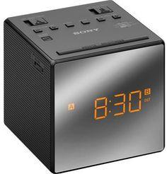 Радиобудильник SONY ICF-C1T, оранжевая подсветка, черный