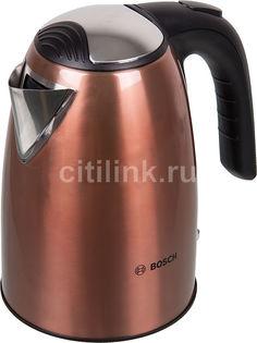 Чайник электрический BOSCH TWK7809, 2200Вт, медный