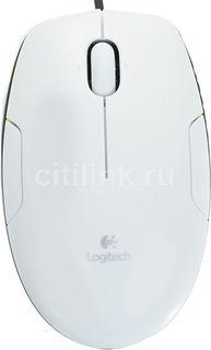 Мышь LOGITECH M150 лазерная проводная USB, белый [910-003754/910-003745]