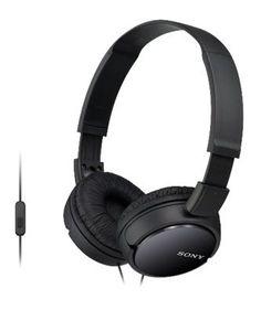 Гарнитура SONY MDR-ZX110AP, мониторы, черный, проводные