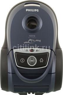 Пылесос PHILIPS Performer FC9170/02, 2200Вт, синий/черный