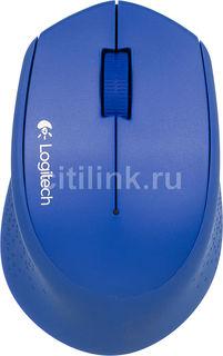 Мышь LOGITECH M280 оптическая беспроводная USB, синий [910-004290]