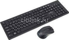 Комплект (клавиатура+мышь) OKLICK 250M, USB, беспроводной, черный [mk5301]
