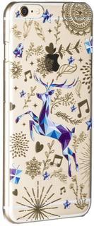 "Клип-кейс Deppa Art Case New Year для Apple iPhone 6 Plus/6S Plus рисунок ""Олень"" + защитная пленка (прозрачный с рисунком)"