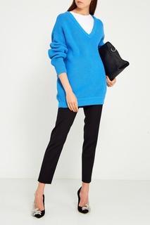Фактурный голубой пуловер Balenciaga