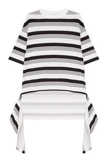 Удлиненная футболка в полоску Balenciaga