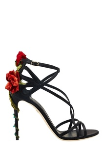 Босоножки с цветной аппликацией Dolce&;Gabbana