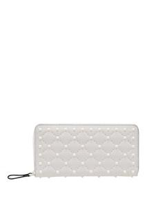 Белый кошелек с шипами Valentino
